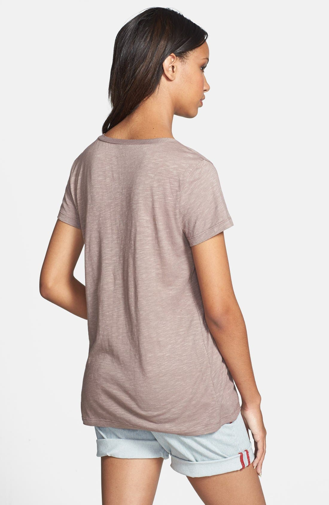 ,                             Relaxed Slub Knit U-Neck Tee,                             Alternate thumbnail 157, color,                             210