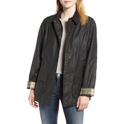 Barbour Waxed Cotton Utility Jacket, US / 8 UK - Green