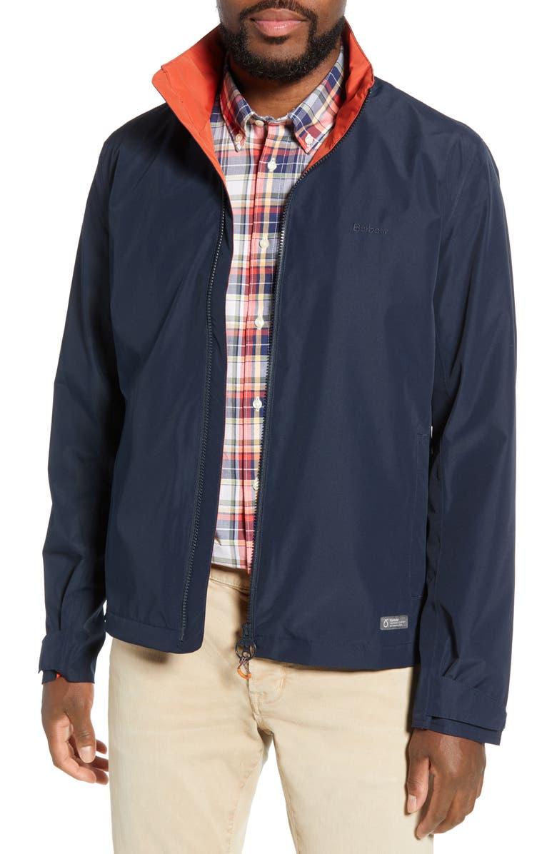BARBOUR Rye Waterproof Slim Fit Jacket, Main, color, 410