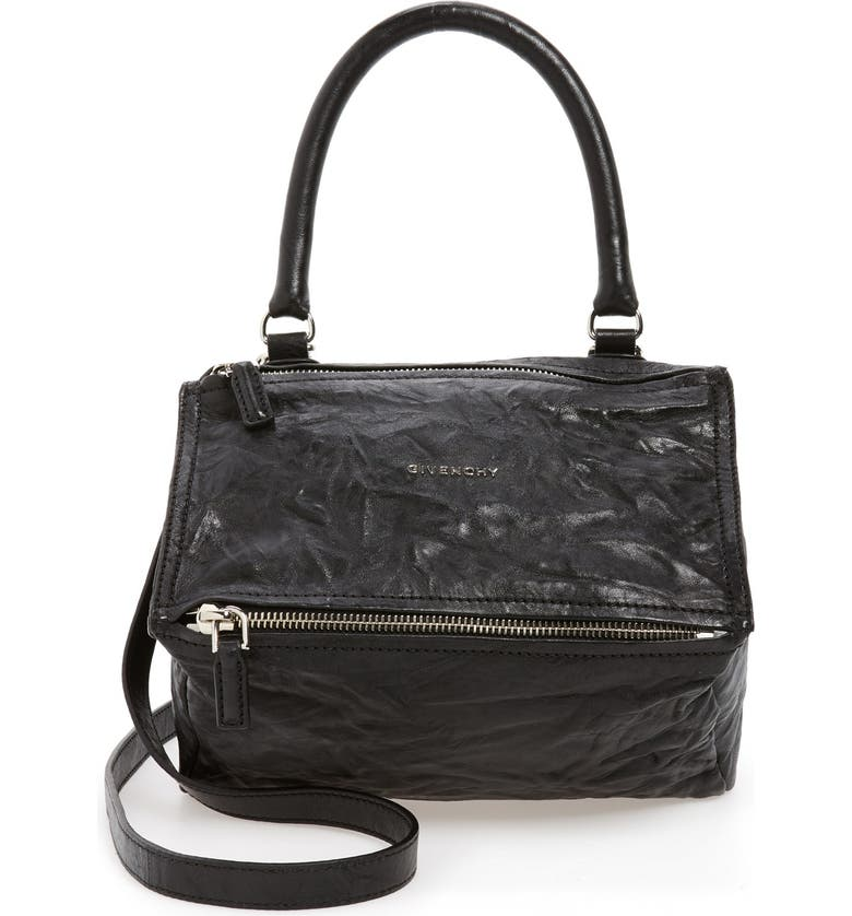 GIVENCHY Small Pepe Pandora Leather Shoulder Bag, Main, color, BLACK