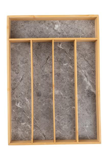 Image of Core Home Medium Flatware Tray - Grey Granite