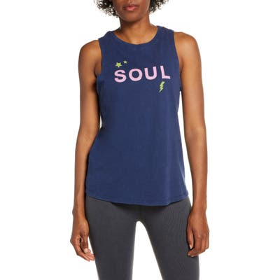 Soul By Soulcycle Soul Lightning Bolt Tank, Blue