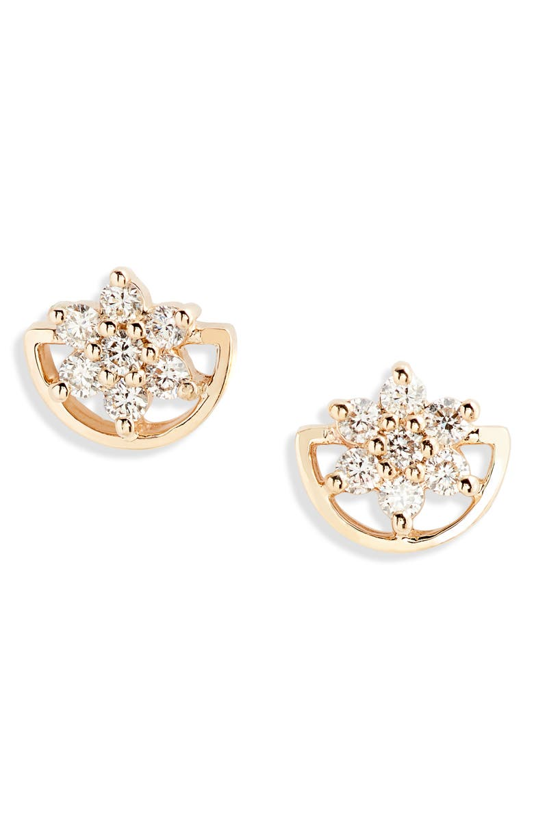 DANA REBECCA DESIGNS Jennifer Yamina Flower Stud Earrings, Main, color, 710