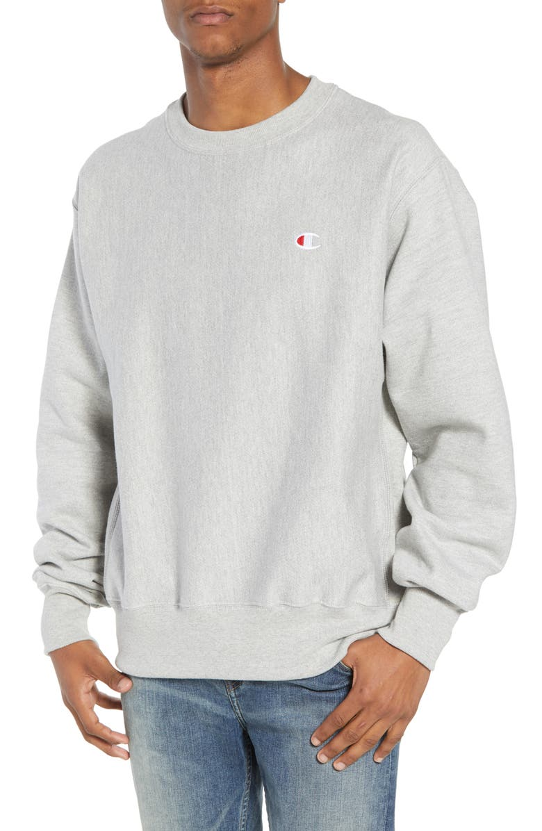CHAMPION Reverse Weave Sweatshirt, Main, color, OXFORD GRAY