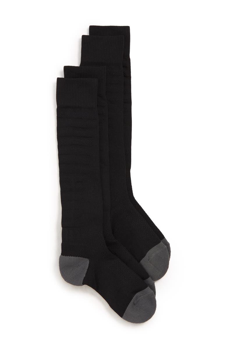 TUCKER + TATE 2-Pack Soccer Socks, Main, color, BLACK