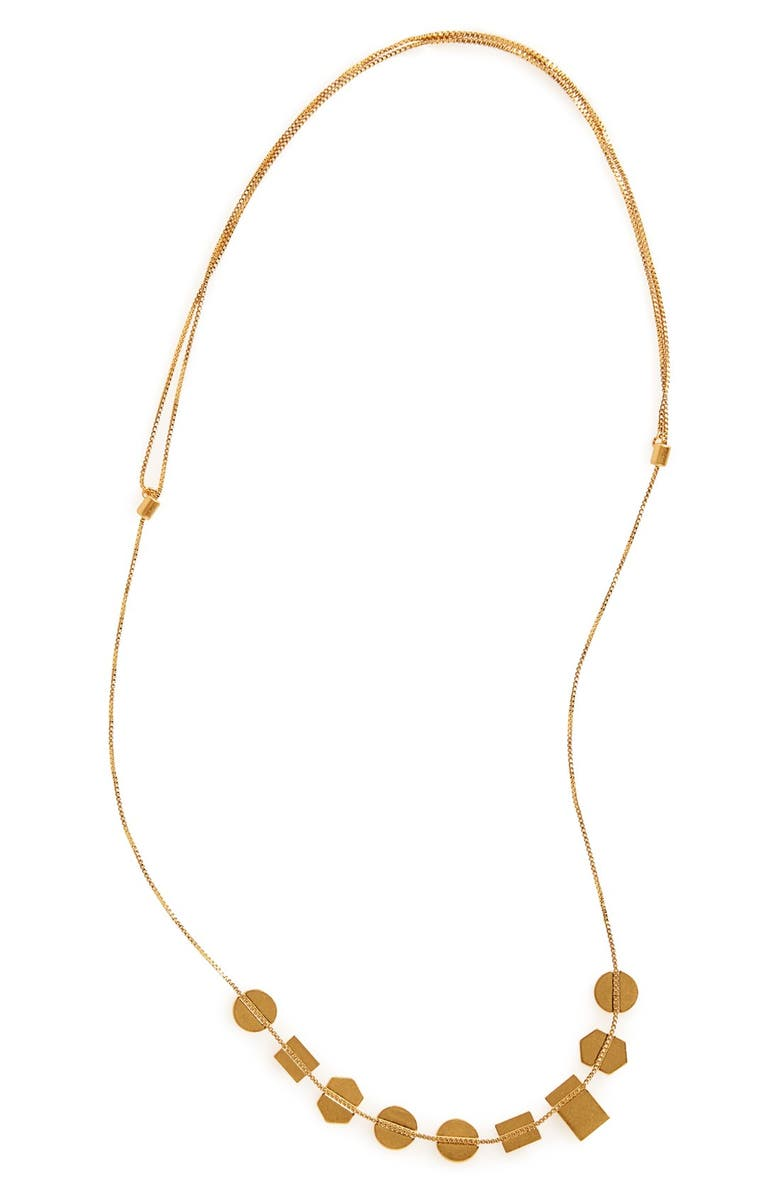 MADEWELL Holding Pattern Necklace, Main, color, VINTAGE GOLD