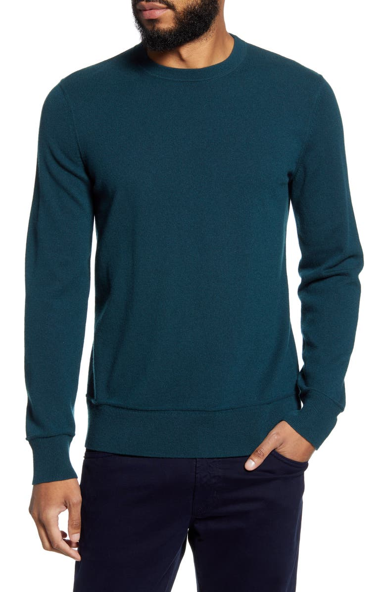 THEORY Hilles Slim Fit Crewneck Cashmere Sweater, Main, color, VETIVER