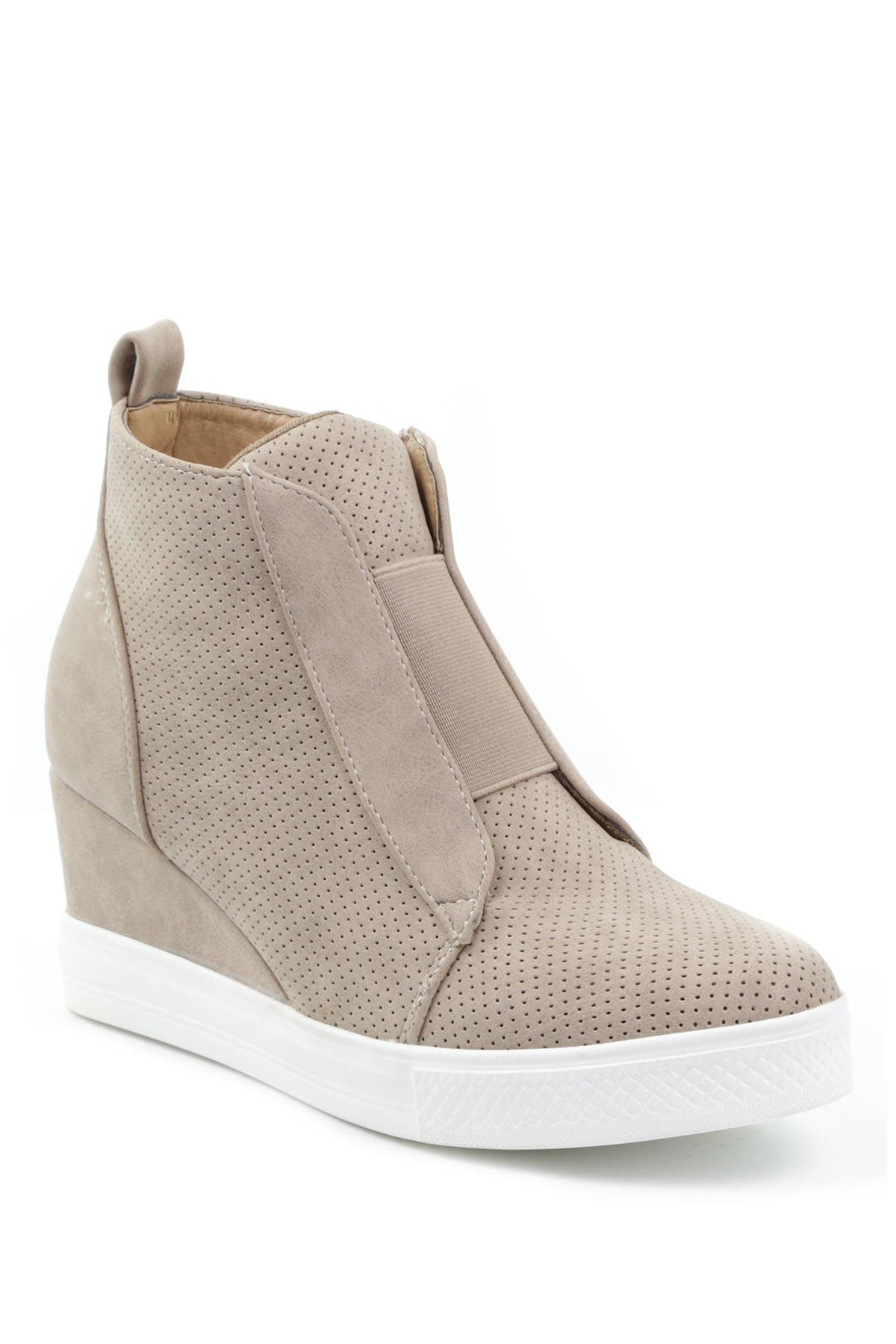 Image of Catherine Malandrino Sabra Perforated Wedge Sneaker