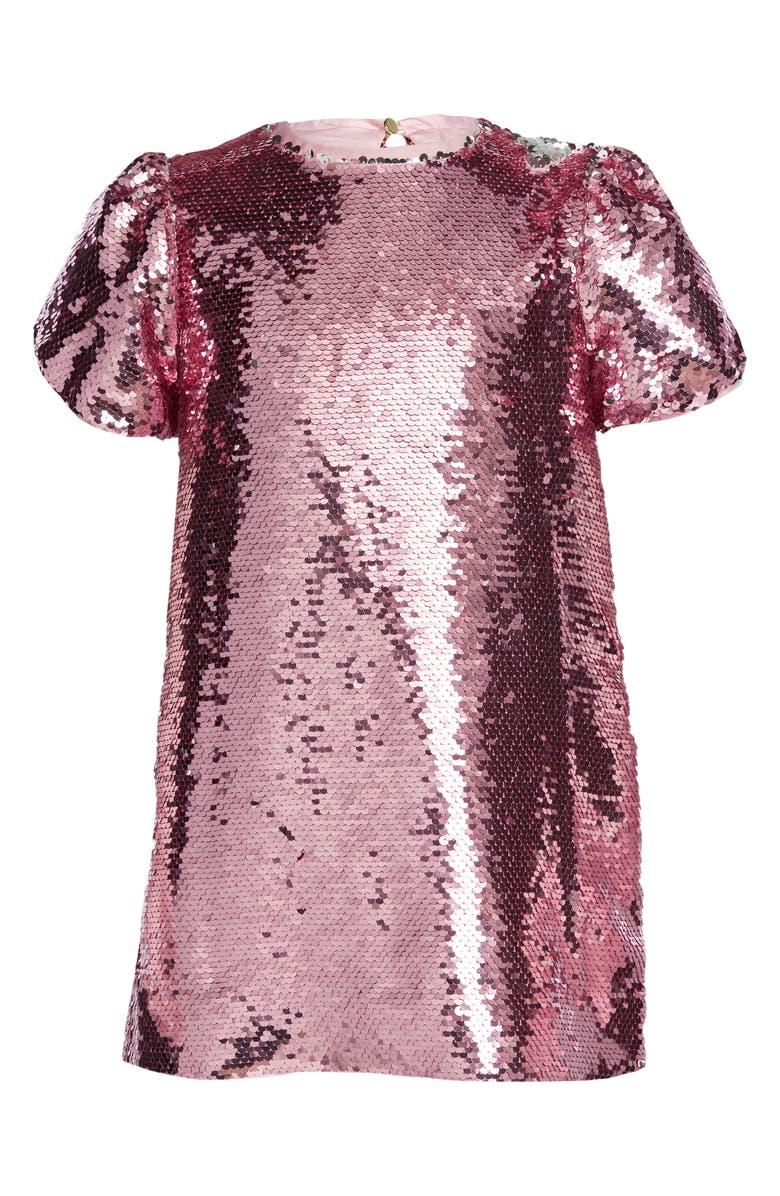 BARDOT JUNIOR Harriet Sequin Party Dress, Main, color, 650