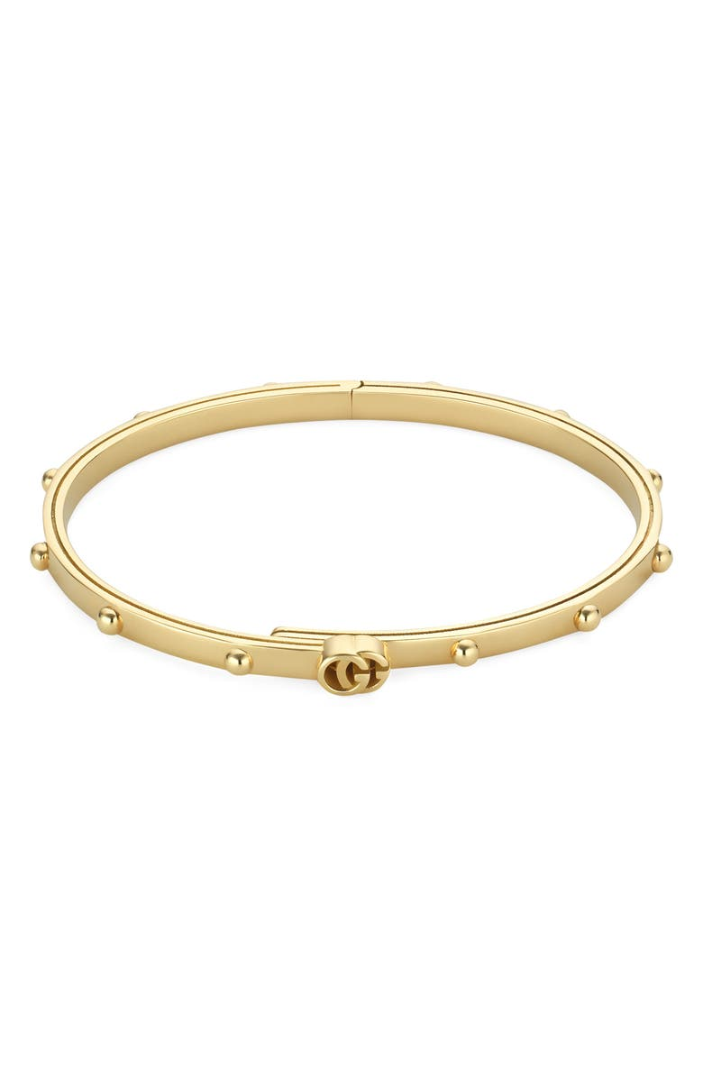 GUCCI GG Running Bangle, Main, color, YELLOW GOLD