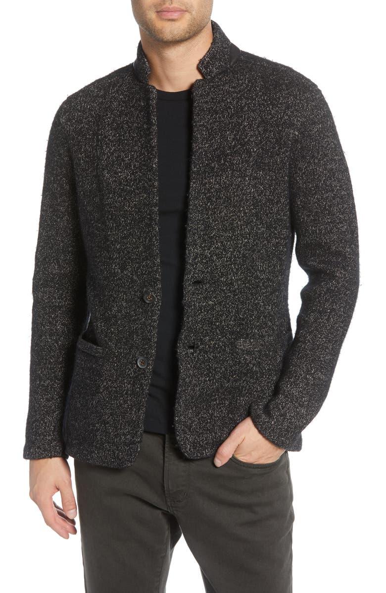 JOHN VARVATOS Star USA Classic Fit Sweater Knit Blazer, Main, color, 001