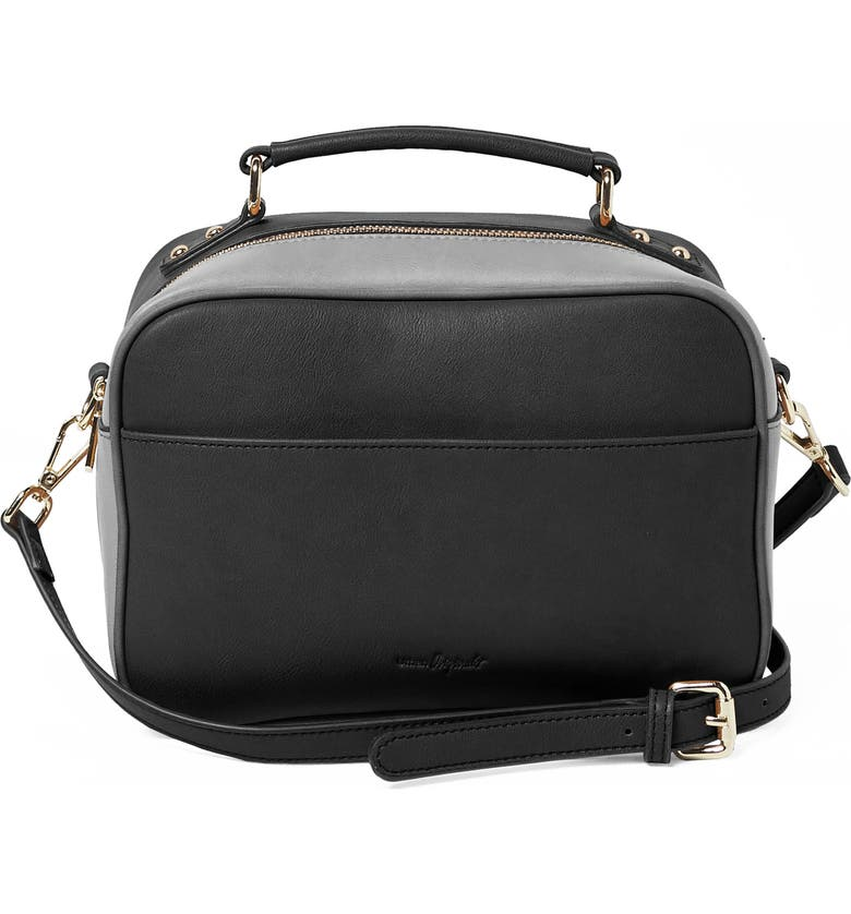 URBAN ORIGINALS Love Bird Faux Leather Satchel, Main, color, BLACK