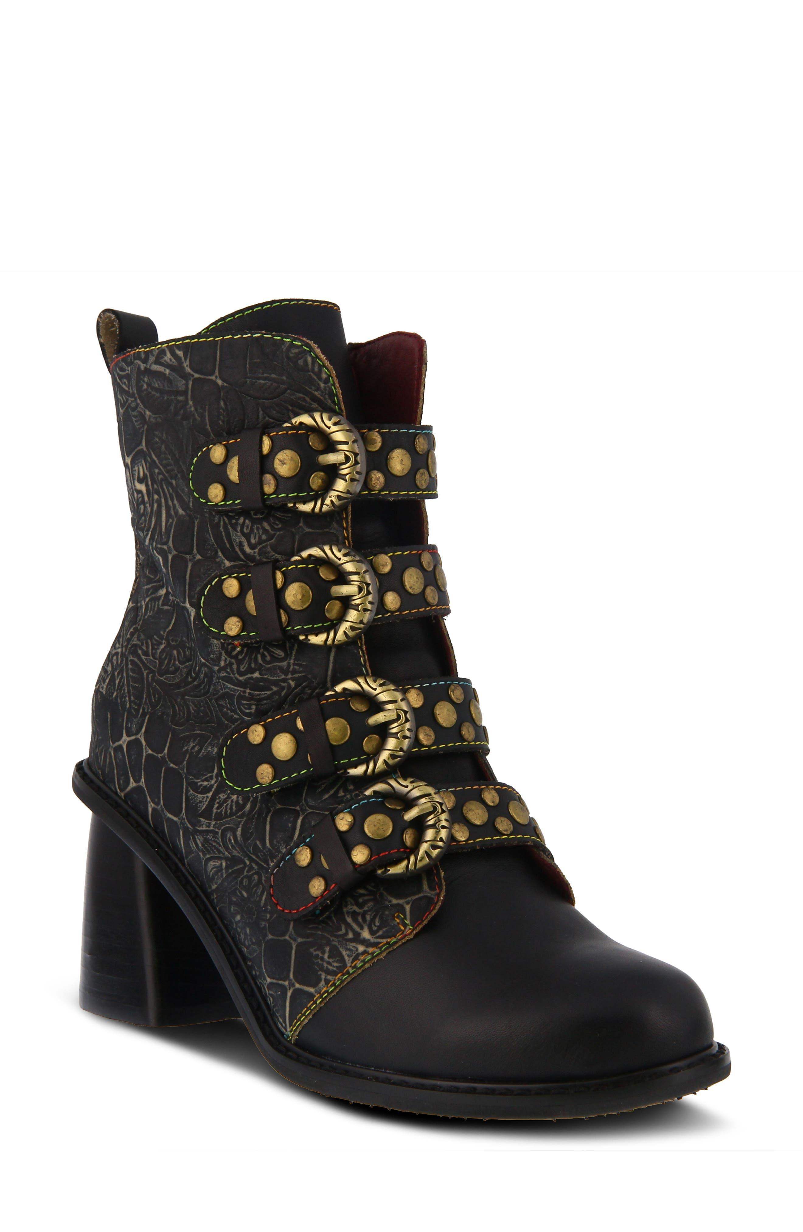 Vintage Boots- Buy Winter Retro Boots Womens LArtiste Wonderland Bootie Size 9US  40EU - Black $159.95 AT vintagedancer.com