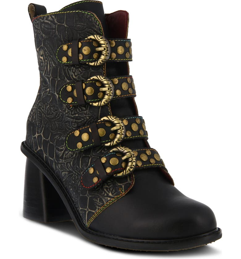 L'ARTISTE Wonderland Bootie, Main, color, BLACK MULTI