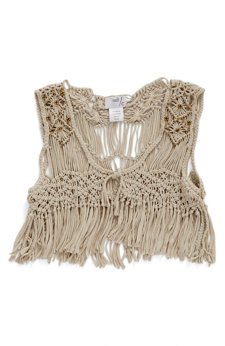 THE ACCESSORY COLLECTIVE Fringe Vest, Main, color, 902