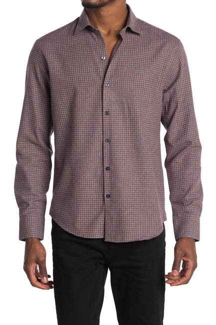 Image of ROBERT BARAKETT Brentwood Long Sleeve Woven Shirt