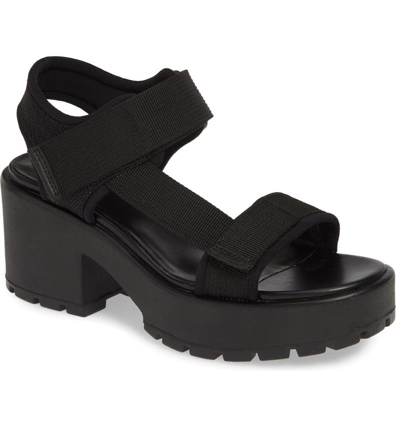 VAGABOND SHOEMAKERS Vagabond Dioon Webbing Platform Sandal, Main, color, BLACK FABRIC