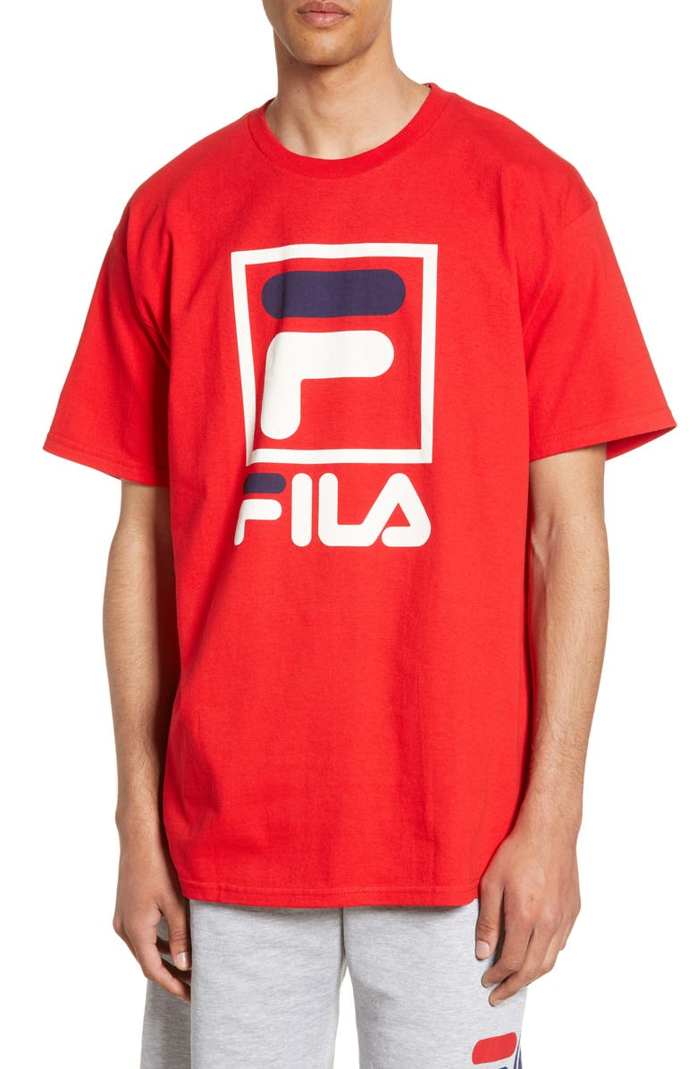 FILA Stacked Logo T Shirt