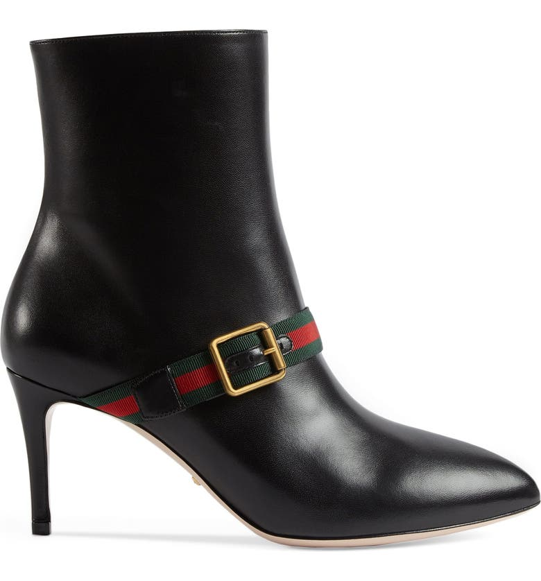 2fdc10a46 Gucci Sylvie Strap Ankle Boot (Women) | Nordstrom