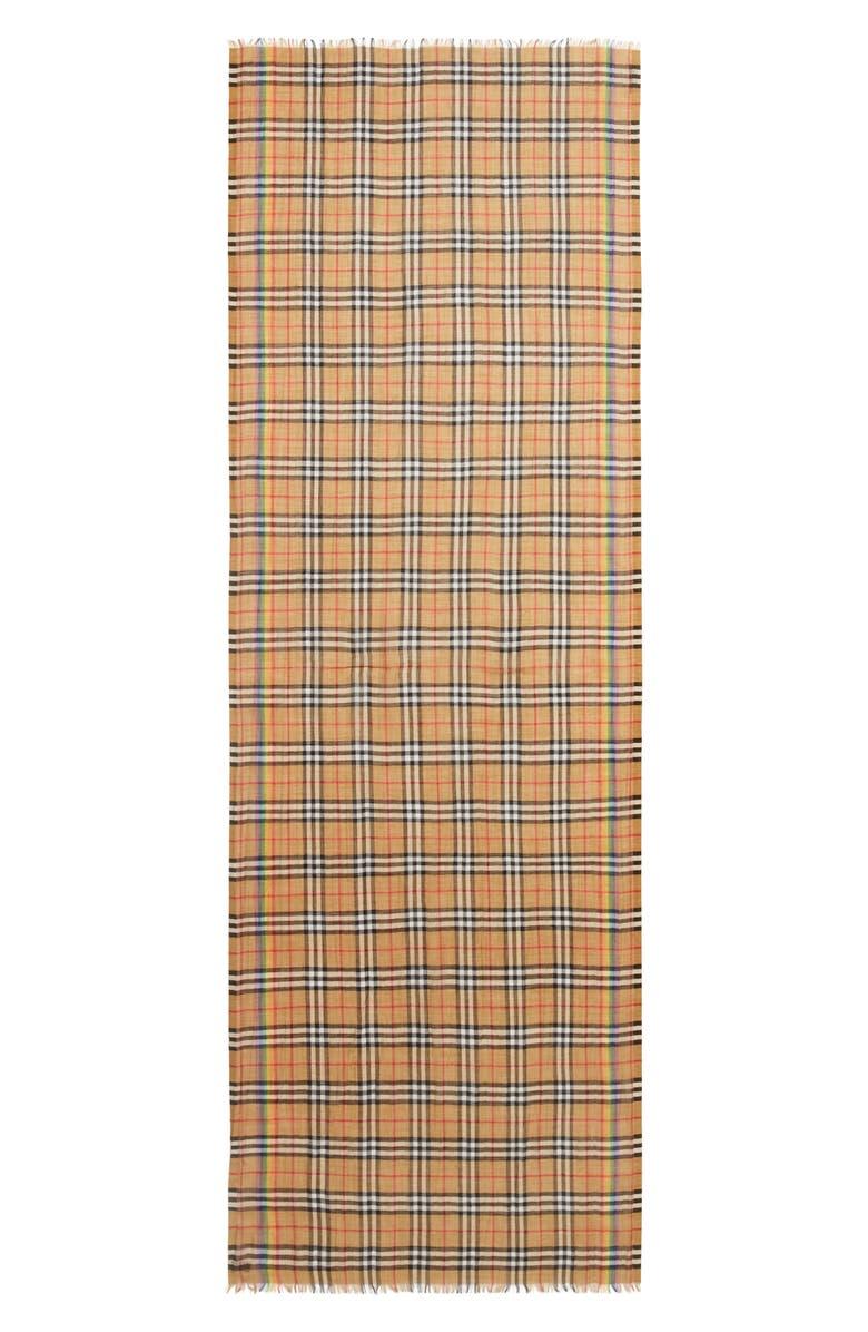 de3d2aa3f8fef1 Burberry Rainbow Stripe Vintage Check Scarf | Nordstrom