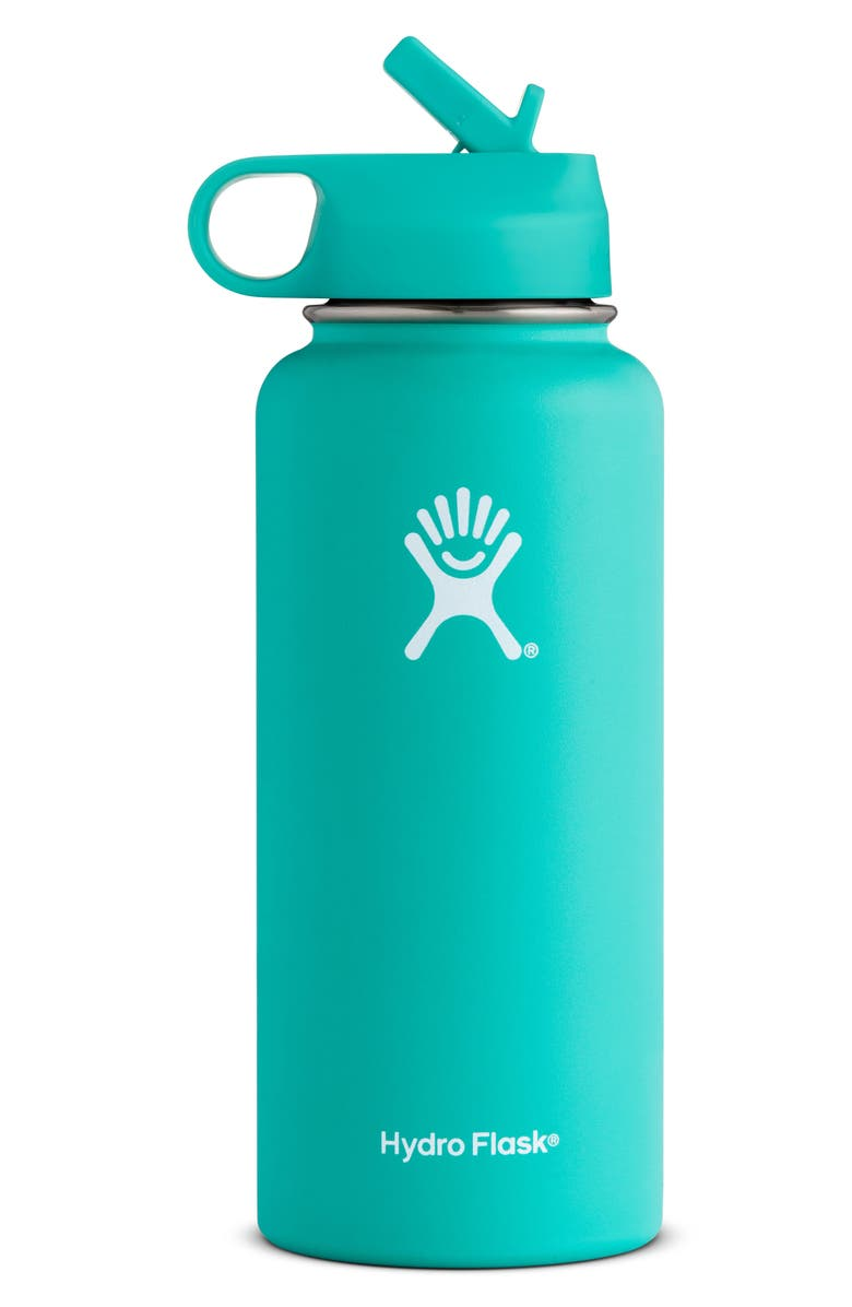 HYDRO FLASK 32-Ounce Wide Mouth Bottle with Straw Lid, Main, color, 400