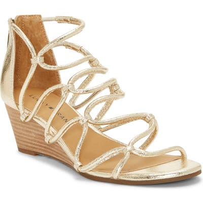 Lucky Brand Jilses Wedge Sandal, Yellow