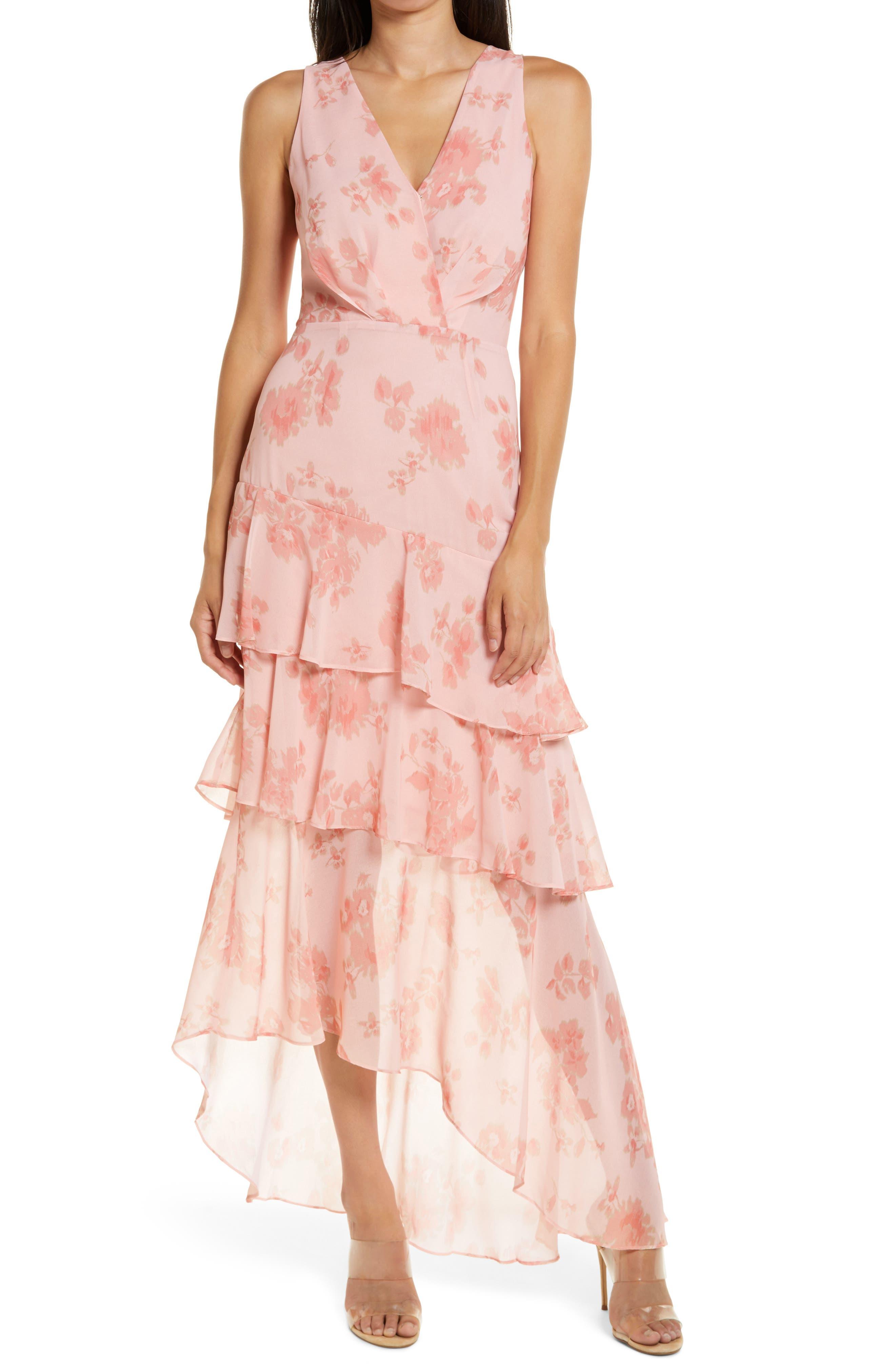 WAYF The Giada Tiered Ruffle Chiffon Gown | Nordstrom