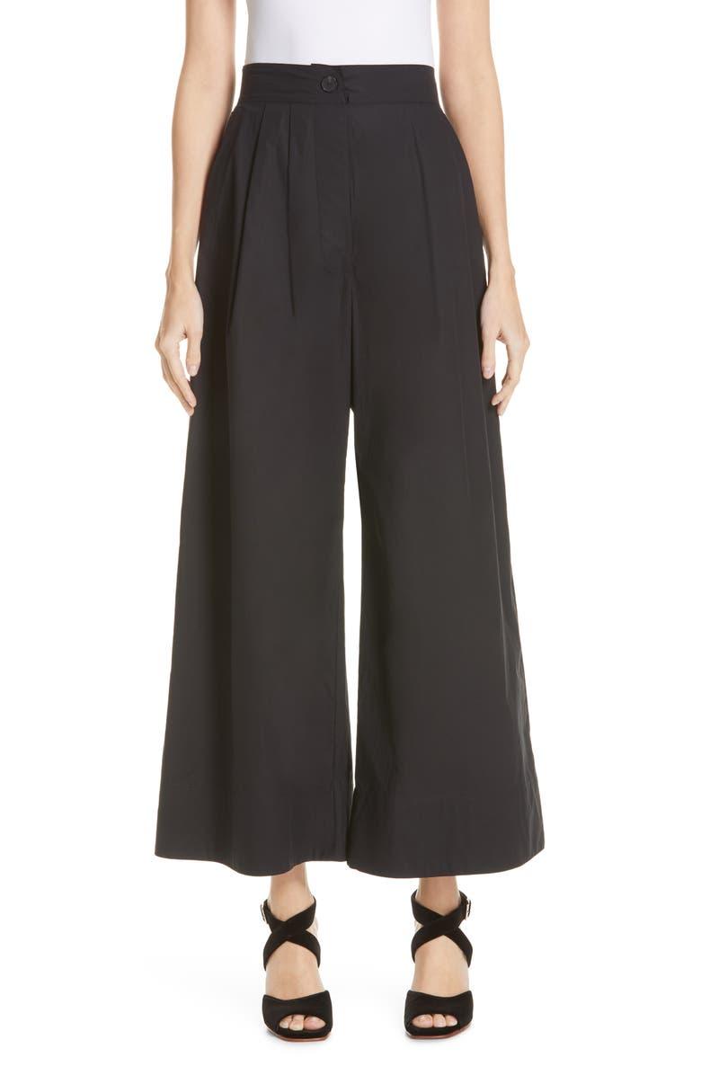 RACHEL COMEY Coxsone Wide Leg Pants, Main, color, BLACK