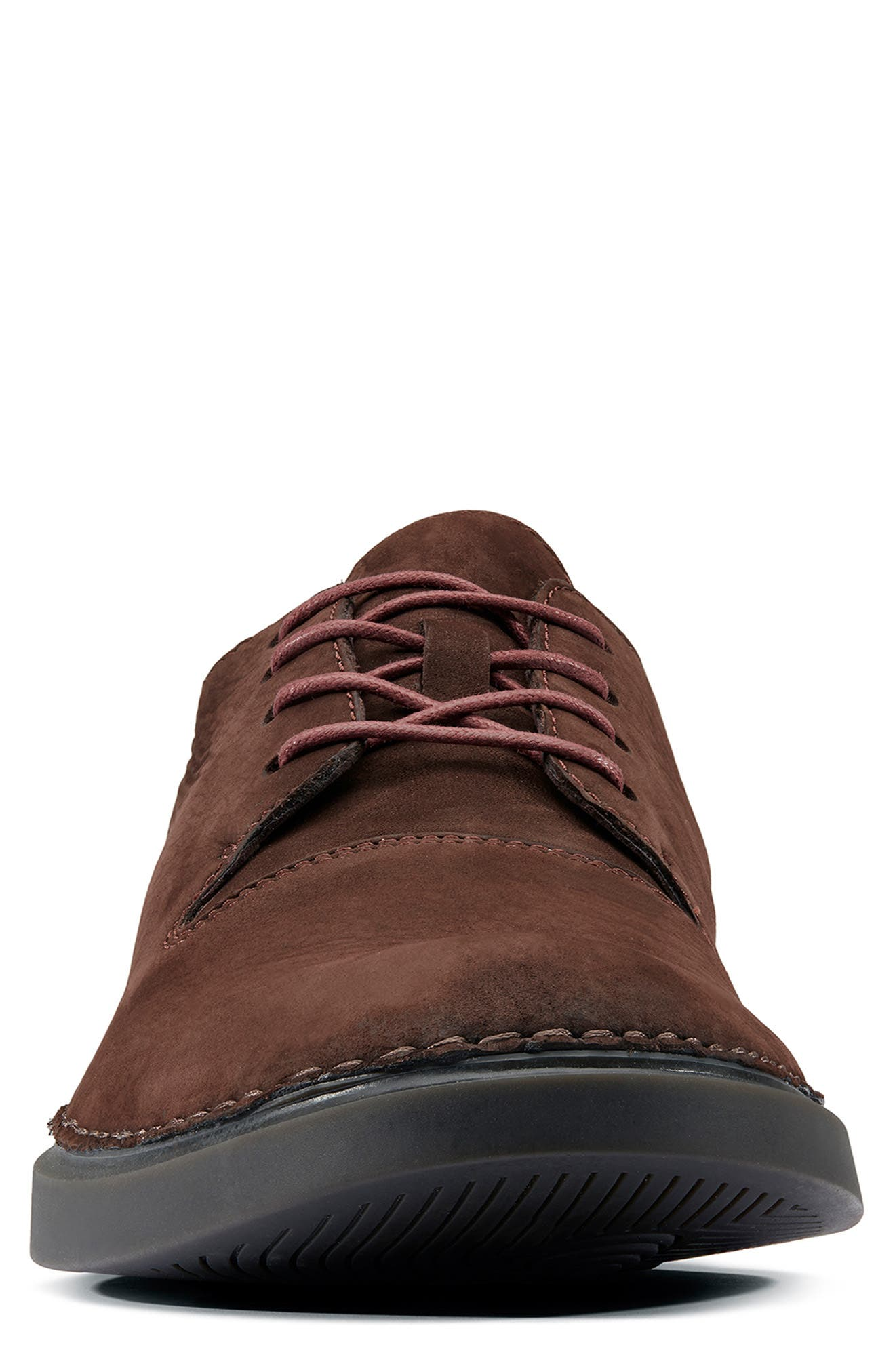 ,                             Hale Lace Plain Toe Derby,                             Alternate thumbnail 3, color,                             DARK BROWN LEATHER