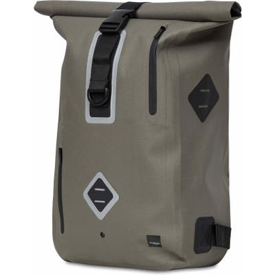 Knomo London Thames Water Resistant Roll-Top Commuter Backpack - Brown