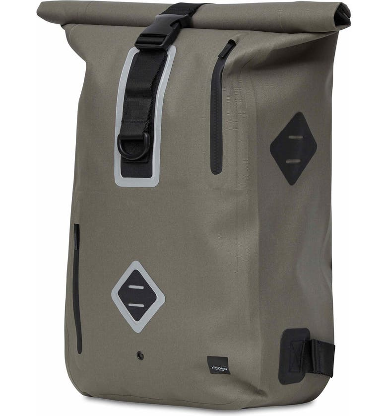KNOMO LONDON Thames Water Resistant Roll-Top Commuter Backpack, Main, color, KHAKI