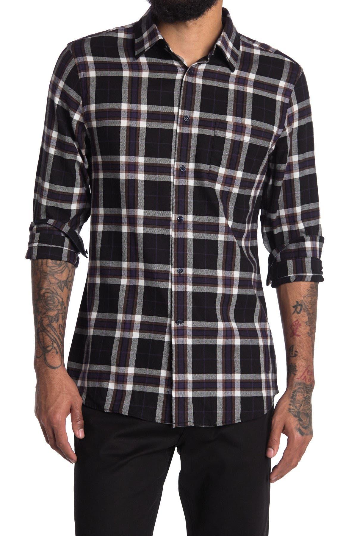 Image of REISS Jasper Long Sleeve Regular Check Shirt