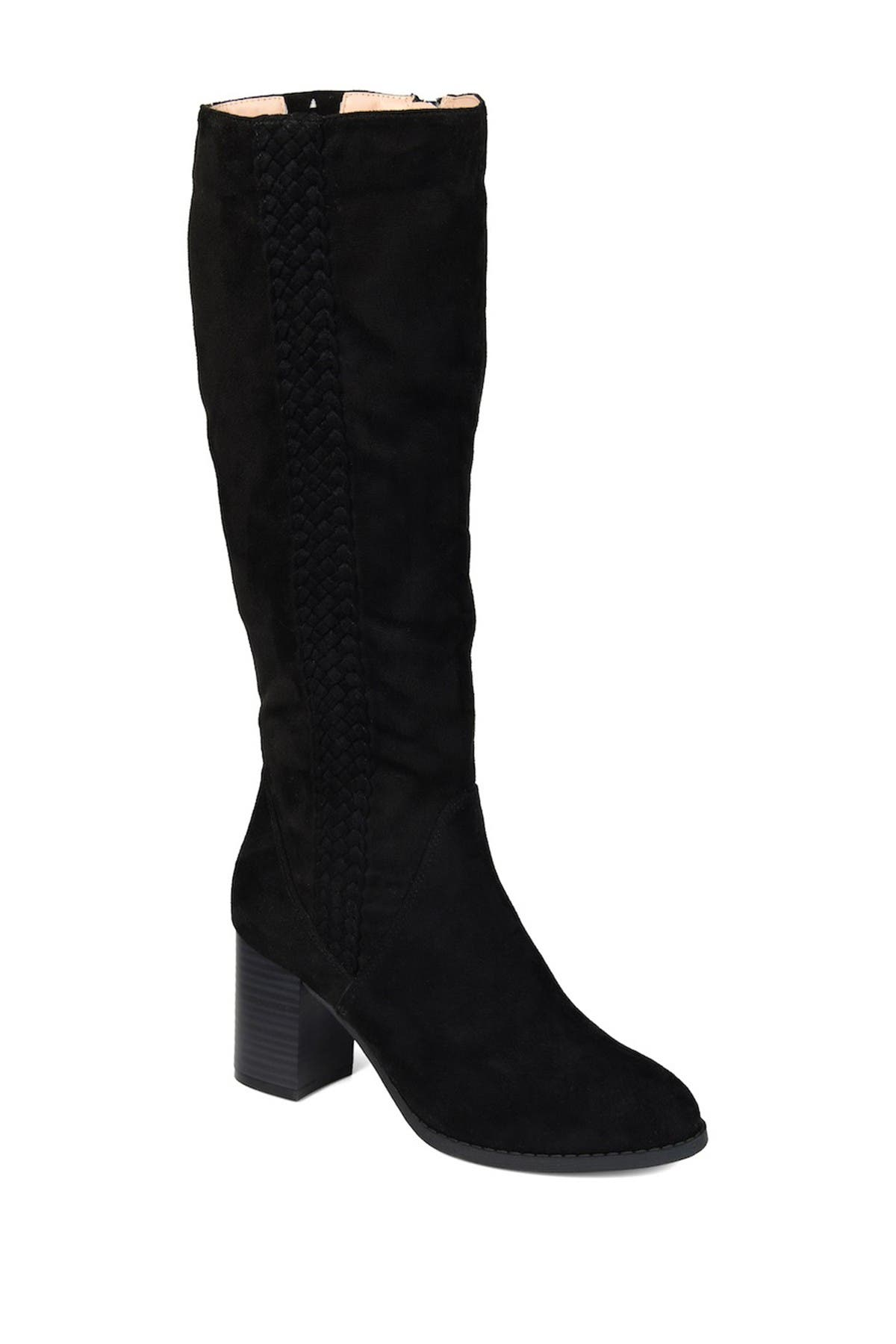 Image of JOURNEE Collection Gentri Braid Trim Boot - Wide Calf