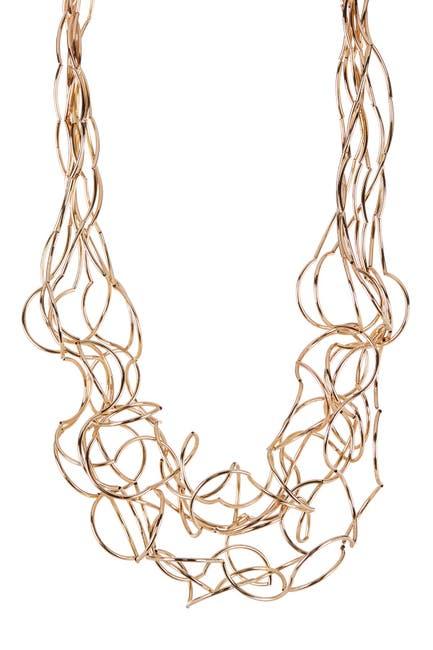 Image of Meshmerise Intertwined Spaghetti Bib Necklace