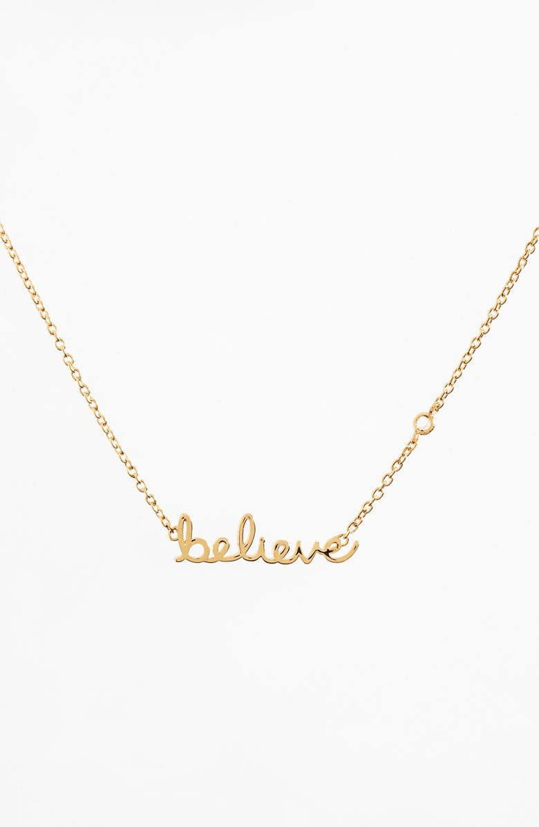 SYD BY SYDNEY EVAN 'Believe' Necklace, Main, color, GOLD