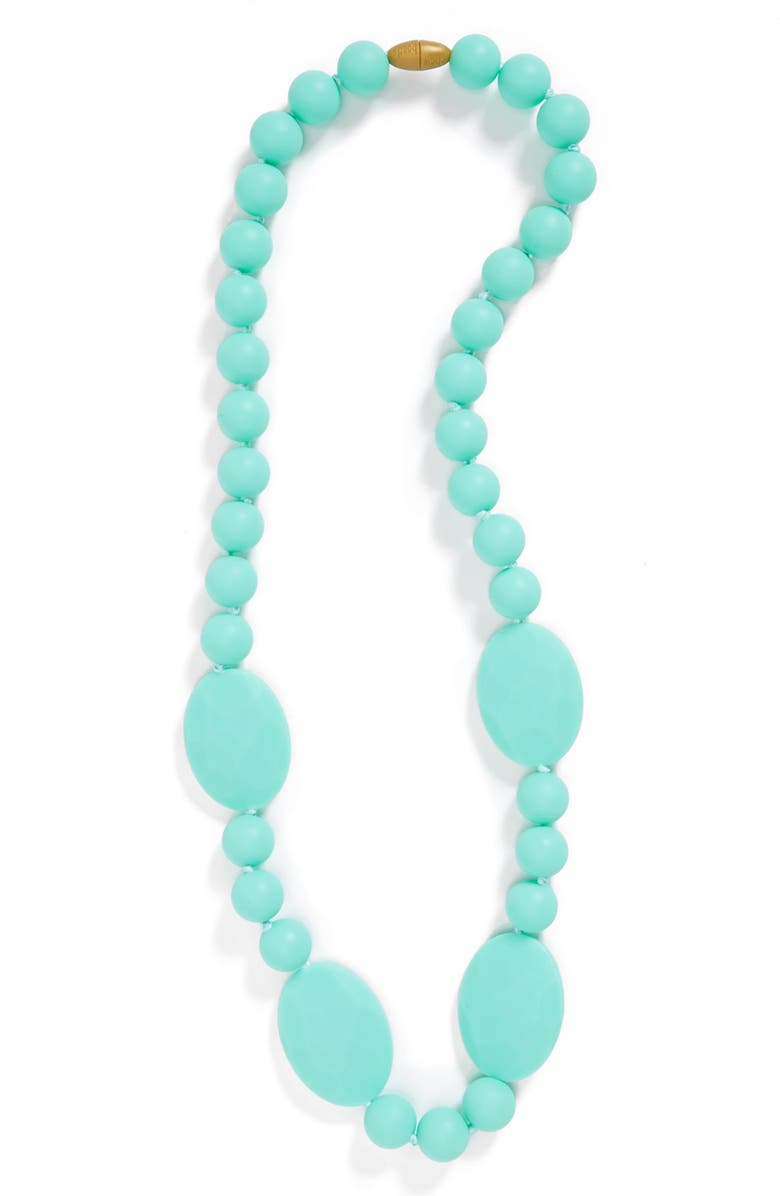 CHEWBEADS Perry Teether Necklace, Main, color, TURQUOISE