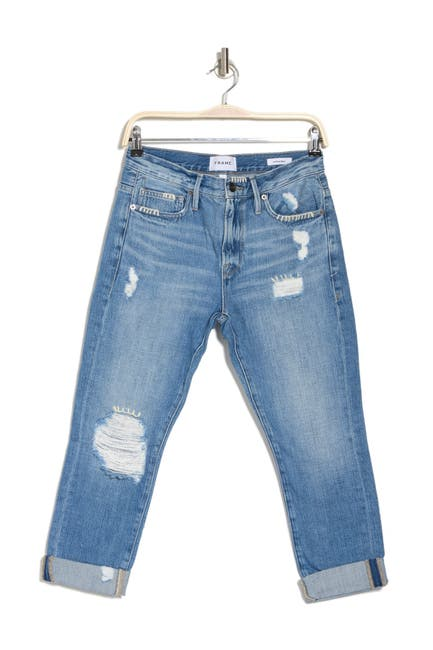 Image of FRAME Le Pixie Beau Distressed Crop Jeans
