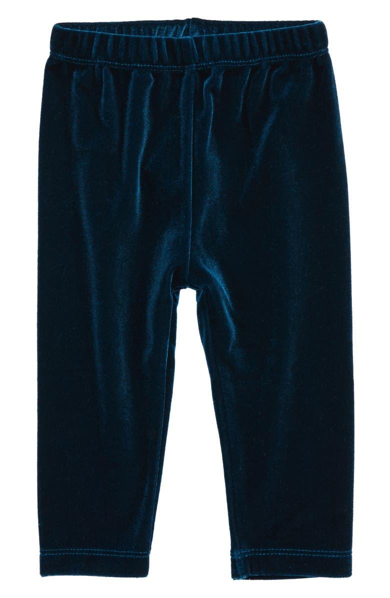 HATLEY Velour Leggings, Main, color, BLUE