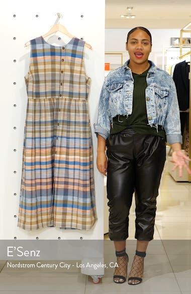Plaid Button Midi Dress, sales video thumbnail