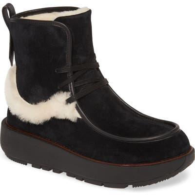 Fitflop Nyssa Genuine Shearling Chukka Boot, Black