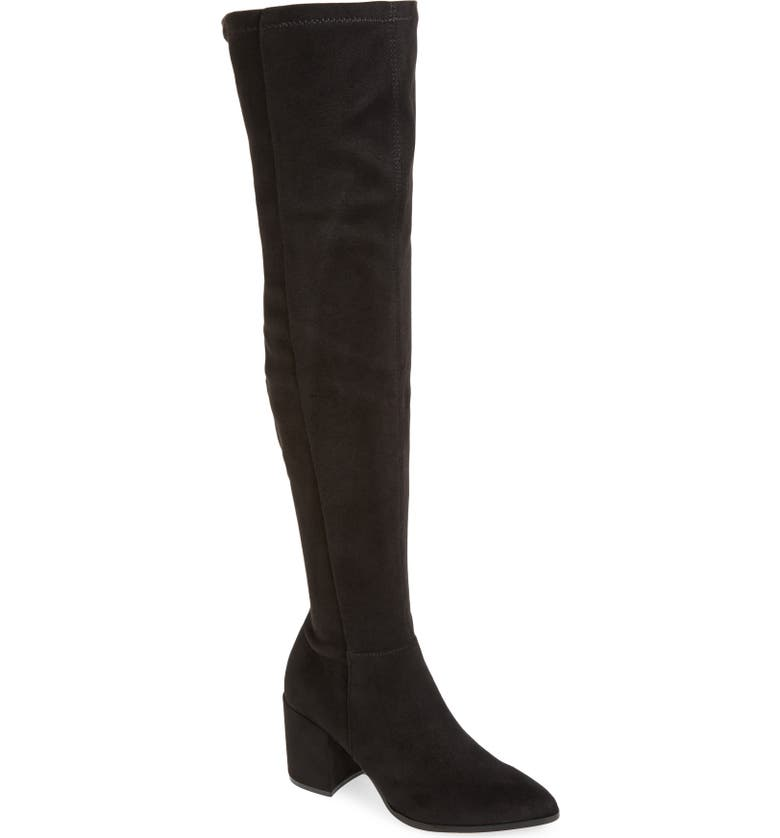 STEVE MADDEN Jacey Over the Knee Boot, Main, color, BLACK