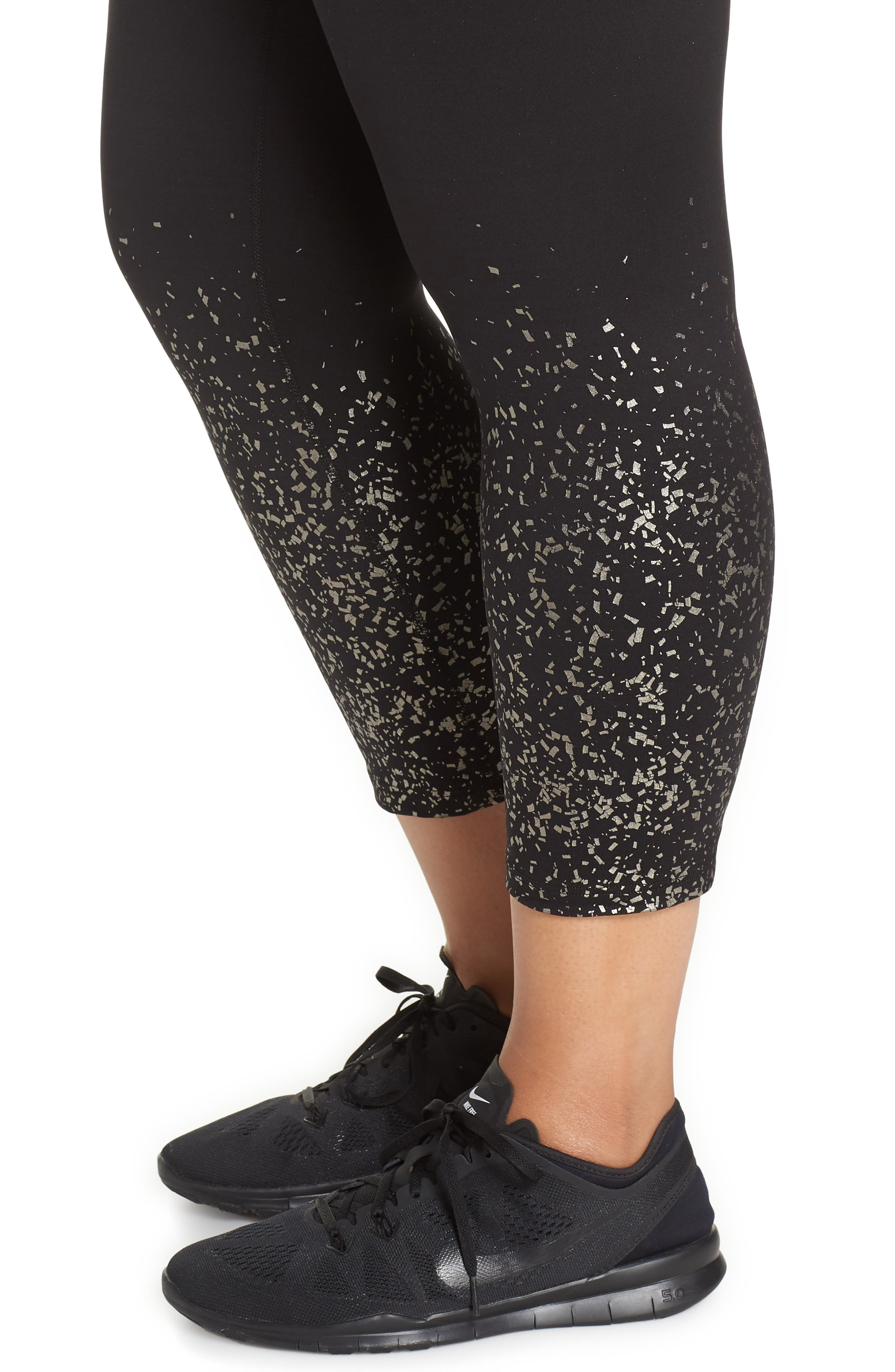 ,                             Active Print Crop Leggings,                             Alternate thumbnail 5, color,                             METALLIC CONFETTI