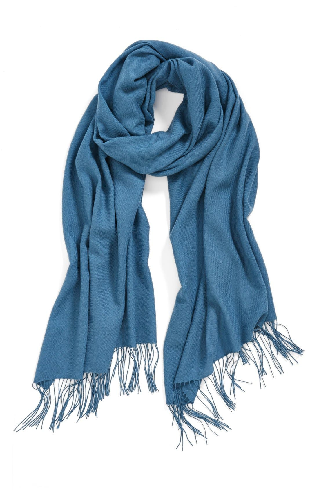 ,                             Tissue Weight Wool & Cashmere Wrap,                             Main thumbnail 97, color,                             449