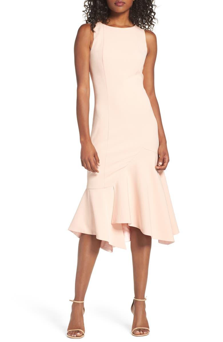 4d6b9914e Jay by Jay Godfrey Plum Flounce Hem Midi Dress | Nordstrom