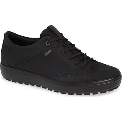 Ecco Soft 7 Tred Lace-Up Sneaker, Black
