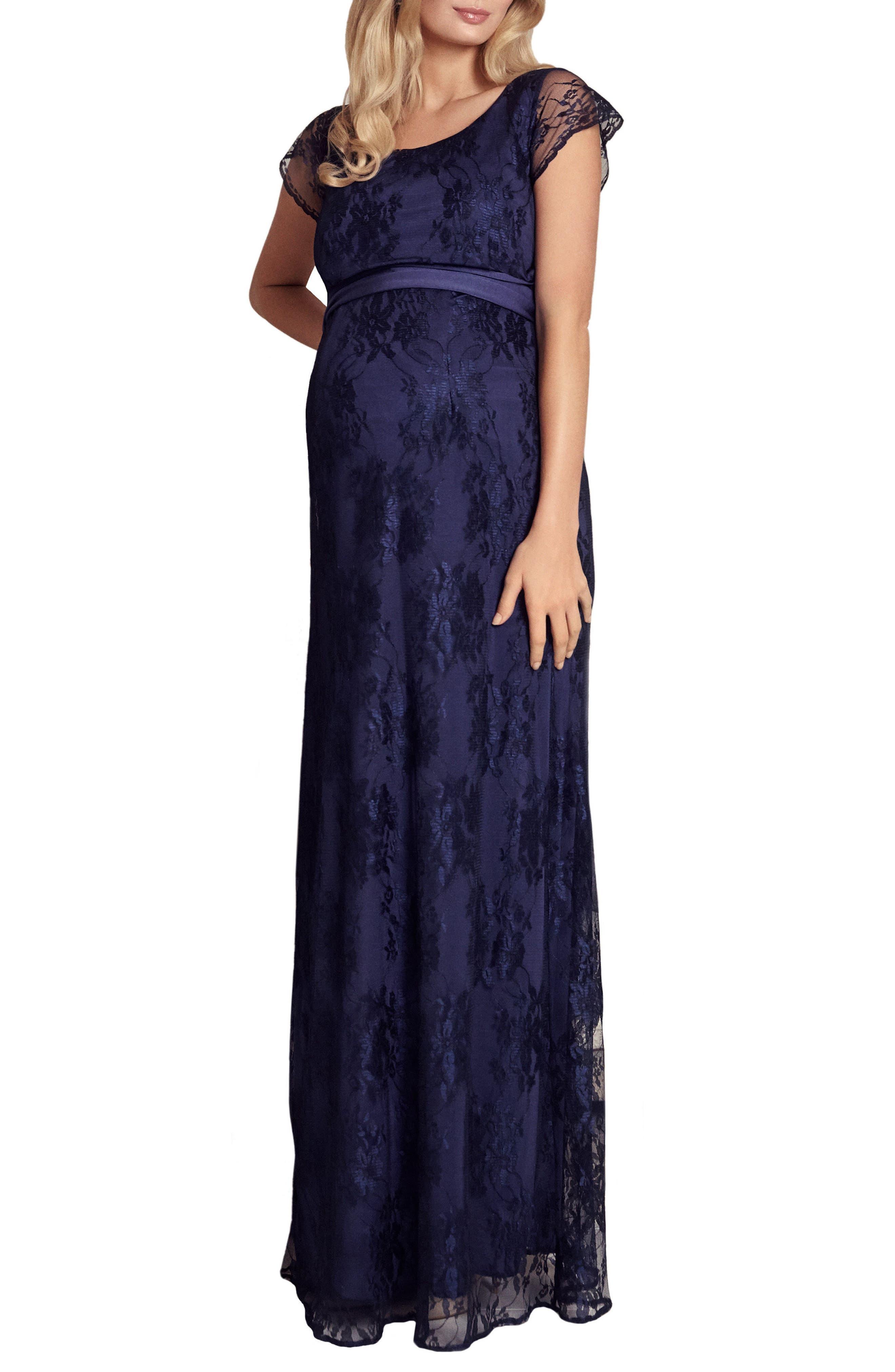 Tiffany Rose April Maternity/nursing Gown, Blue