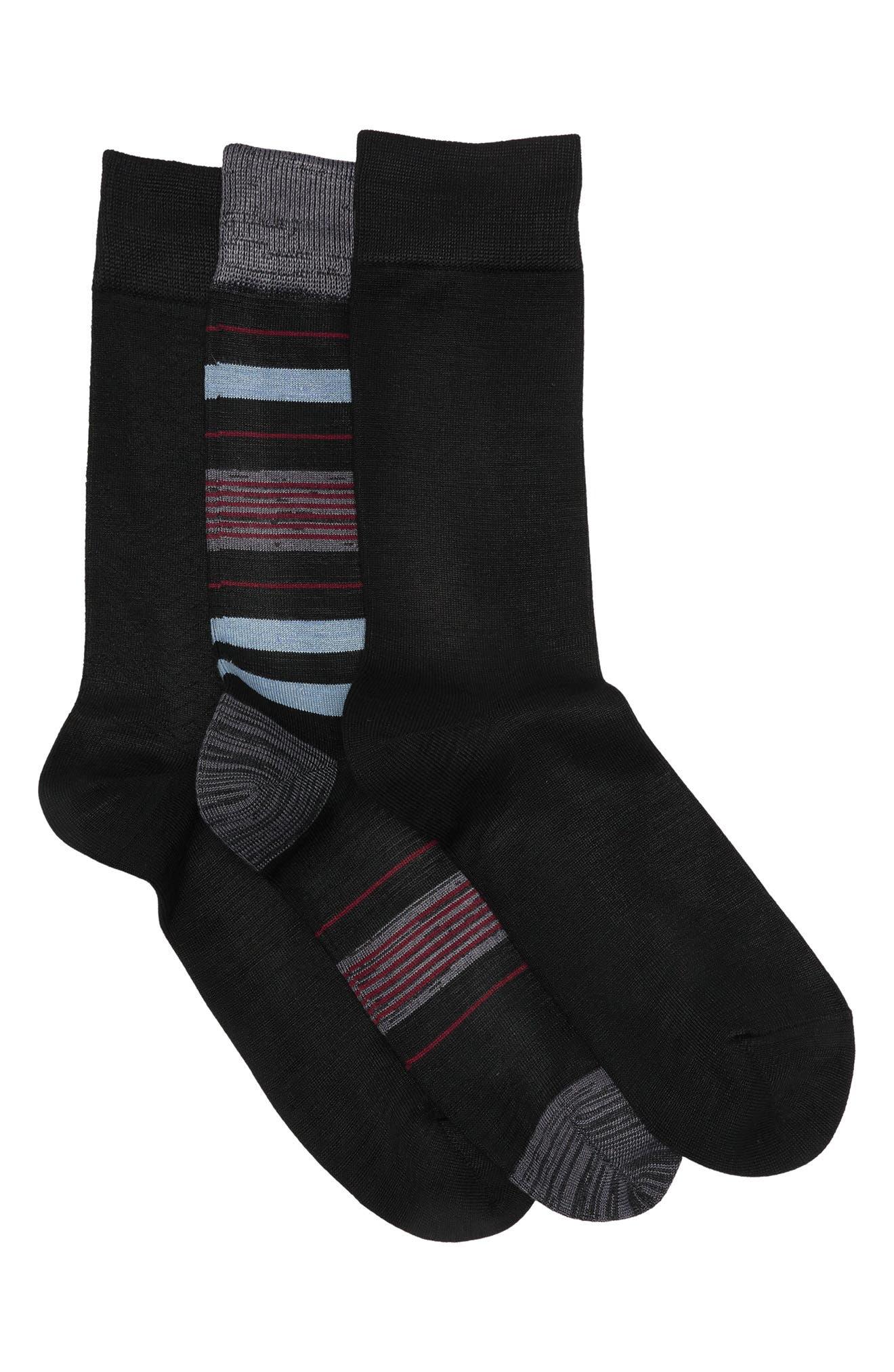 Image of Nordstrom Ultra Soft Crew Socks - Pack of 3