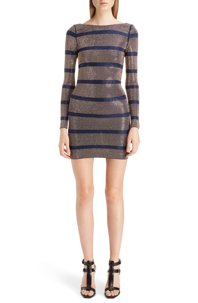 Embellished Stripe Minidress by Balmain