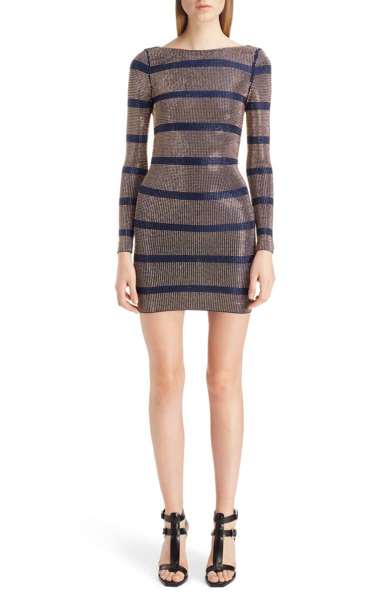 Embellished Stripe Minidress by Balmain