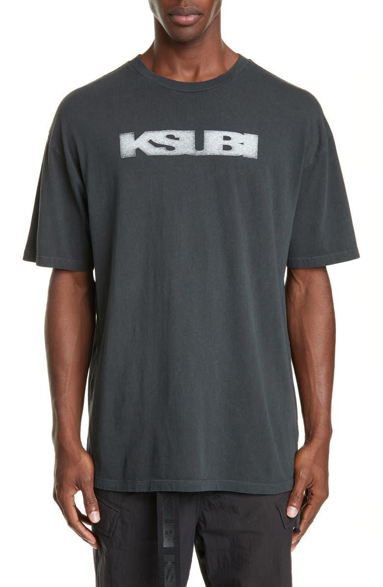KSUBI Sign of the Times Graphic T-Shirt, Main, color, BLACK